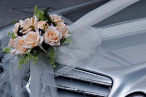 Украшение автобуса на свадьбу